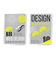 Design workshop design conference placard vector