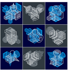 Different engineering constructions collection vector