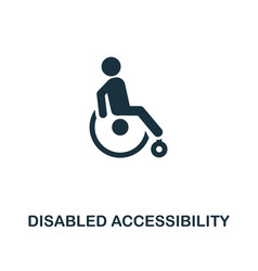 disabled accessibility icon monochrome style vector image