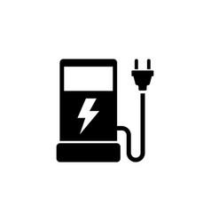 eco electric fuel pump flat icon vector image