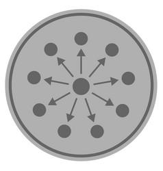 Expanse silver coin vector