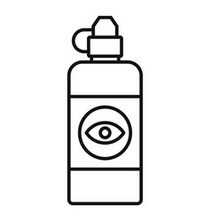 eye clean lotion icon outline style vector image