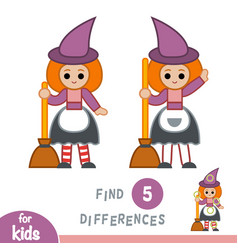 Find differences education game witch vector