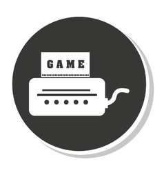 Game control design vector image
