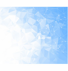 geometric white blue polygonal background vector image