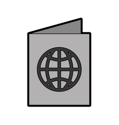Grey passport cartoon vector