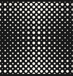 halftone dots seamless pattern halftone circles vector image