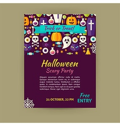 Halloween Holiday Template Banner Flyer Modern vector