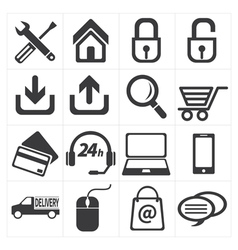 Icon e commerce and shopping vector