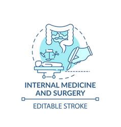 Internal medicine and surgery blue concept icon vector