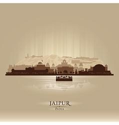 Jaipur India city skyline silhouette vector image vector image