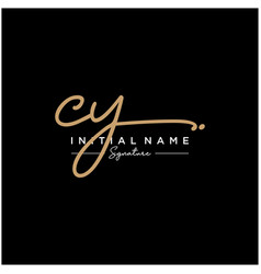 letter cy signature logo template vector image