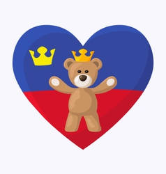 Liechtenstein Royal Teddy Bear vector image