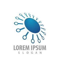 logo concept design circle spark symbol graphic vector image