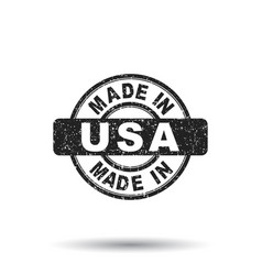 made in usa stamp on isolated background vector image