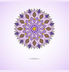 mandala oriental round ornament vector image