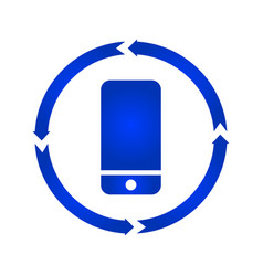 mobile turn icon vector image