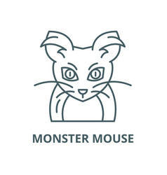 monster mouse line icon linear concept vector image