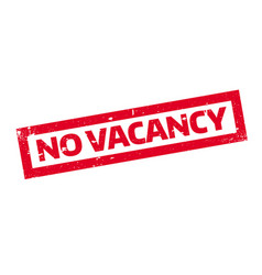 No vacancy rubber stamp vector