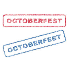 Octoberfest textile stamps vector