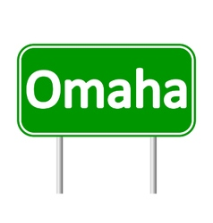 Omaha green road sign vector