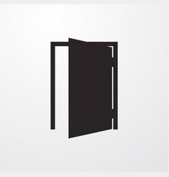 Open door sign icon flat design style vector