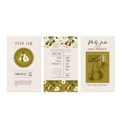 pear jam flyers vector image
