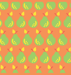 pear seamless pattern hand drawn background vector image