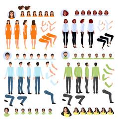 person generator set body parts to create vector image