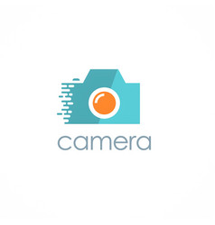 photo camera logo vector image