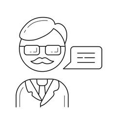 Professor line icon vector