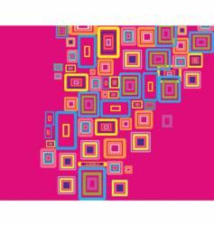Rectangles background vector