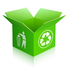 Recycled box vector