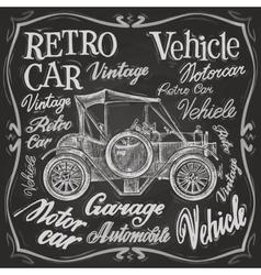 Retro car logo design template vehicle vector