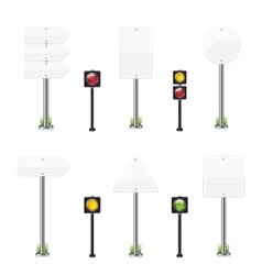 Road wight sign set vector image