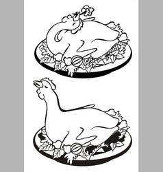 Roasted chicken vector