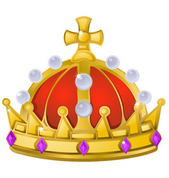 Royal crown cartoon element vector