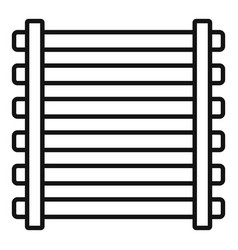 Sauna wood frame icon outline style vector