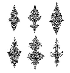 Set hand drawn doodle abstract design pattern vector