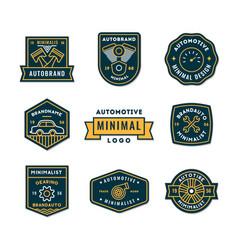 set minimal auto logo or icon in premium vector image