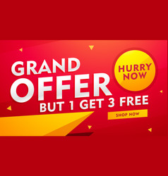 Stylish banner design with offer details for vector