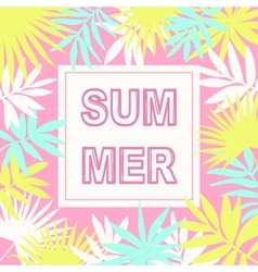 Summer card background vector