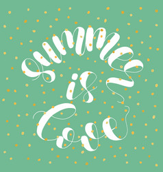 Summer is love lettering vector
