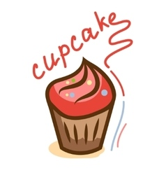 tasty cupcake 1 vector image