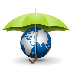 umbrella and globe vector image