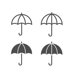 umbrella icons lined and filled style vector image