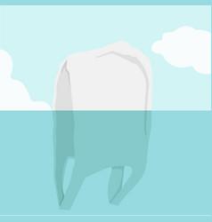 underwater view of plastic bag vector image