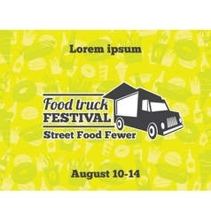 Urban street food for poster vector image