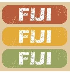 Vintage Fiji stamp set vector image