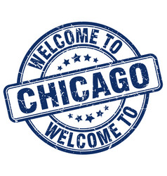 Welcome to chicago vector